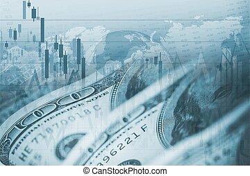 pénznem, forex, dollár, cserél