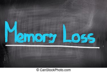 pérdida de memoria, concepto