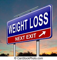 pérdida de peso, concept.