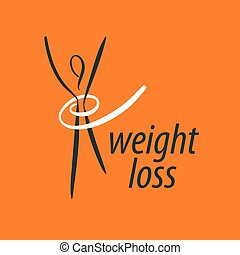 pérdida de peso, logotipo