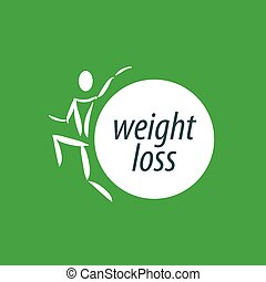 pérdida, peso, logotipo