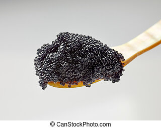 pérola, colher, caviar, mãe