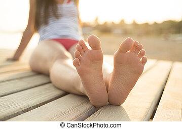 pés, detalhe