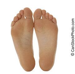 pés nus