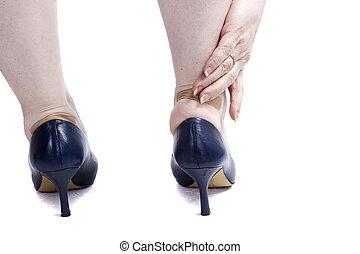 pés, sapatos, femininas