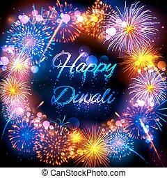 pétard, festival, lumière, diwali, inde, fond, vacances, heureux
