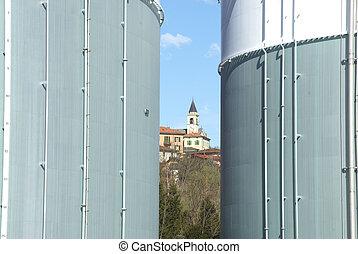 pétrochimique, réservoir