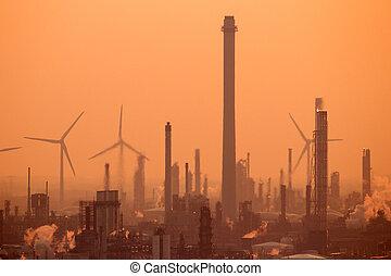 pétrochimique, usines industrielles