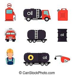 pétrole, design.