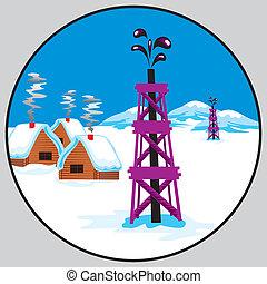 pétrole, emblème