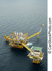 pétrole gaz, derrick