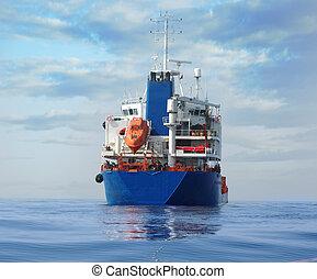 pétrolier, océan
