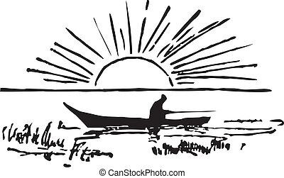 pêcheur, bateau
