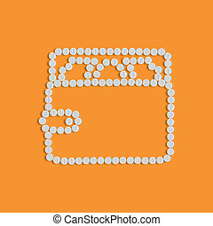 píldoras, concept:, bolsa, dinero