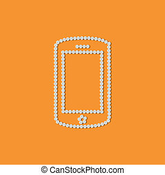 píldoras, concept:, móvil, teléfono, smartphone