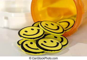 píldoras, feliz