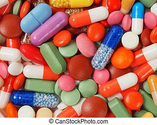 píldoras, plano de fondo
