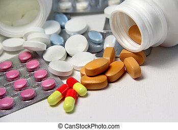 píldoras, tabletas