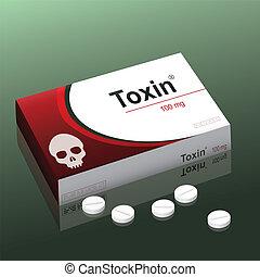 píldoras, toxina