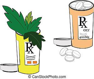píldoras, y, narcóticos