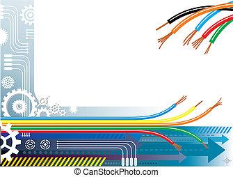 píle, automatizace, grafické pozadí
