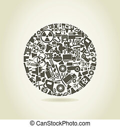 píle, jeden, kruh