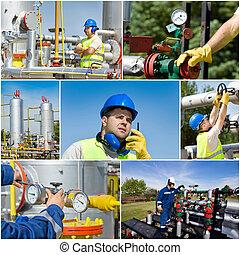 píle, nafta, plyn