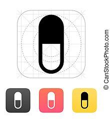 pílula, icon., cápsula