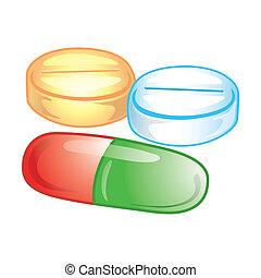 pílulas, ícone