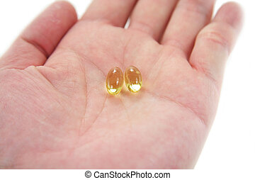 pílulas, amarela, gel