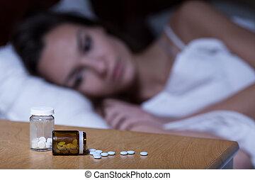pílulas, dormir