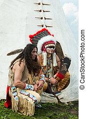 północno-amerykański, indianin