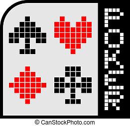 póker, emblema
