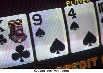 póker, fluch, dinero, casino, juego, juego, vídeo, tarjetas, juego