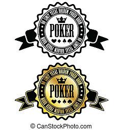póker, habitación, señal