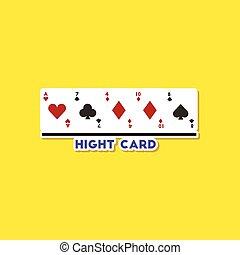 póker, pegatina, alto, papel, plano de fondo, elegante,...