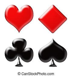 póker, tarjeta
