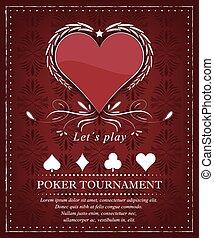 póker, torneo, plano de fondo