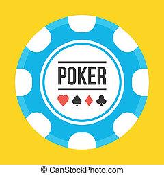 póker, vector, astilla, icono