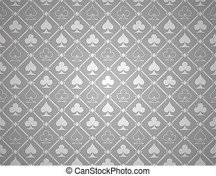 póker, vector, plata, plano de fondo