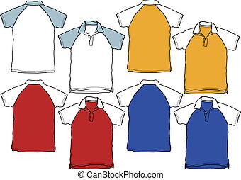 pólo, menino, desporto, camisa, uniforme