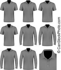 pólo, shirt., homens, cobrança