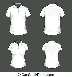 pólo, vetorial, desenho, camisa, modelo