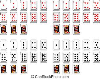 pôquer, cartões