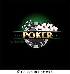 pôquer, cassino, online
