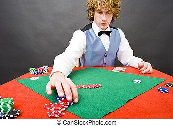 pôquer, pague