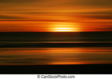 pôr do sol, abstratos, praia