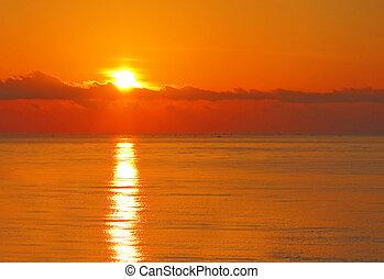 pôr do sol, bali, oceânicos