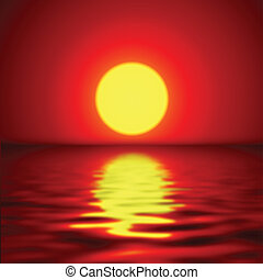 pôr do sol, fundo
