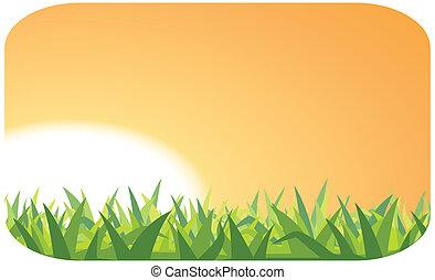 pôr do sol, ilustração